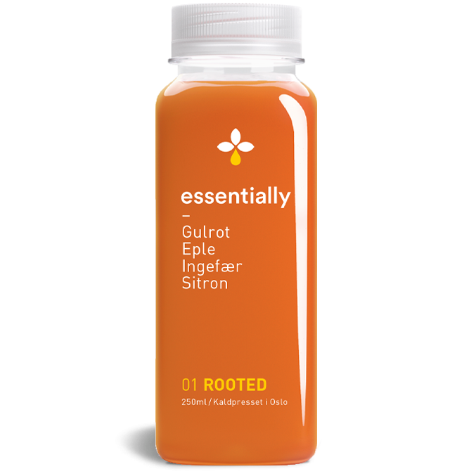 Essentially Rooted juice flaske