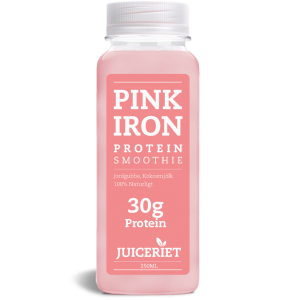 Pink Iron Protein Smoothie flaske front